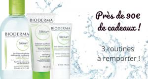 3 lot de 3 produits de soins Bioderma offerts
