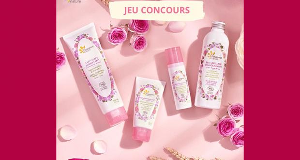 Lot de 4 soins cosmétiques à la rose Fleurance Nature offert