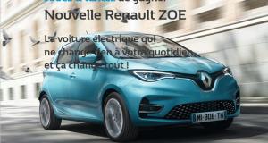 Une voiture Renault ZOE Intens R110 offerte