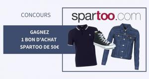 12 bons d'achat Spartoo de 50€ offerts