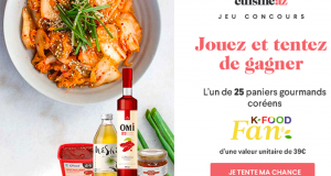 25 paniers gourmands K-food fan offerts
