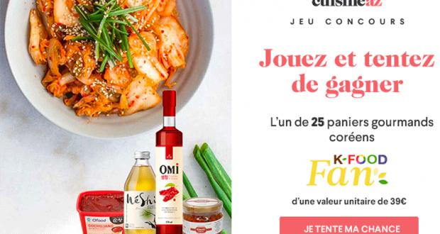 25 paniers gourmands K-food fan offerts