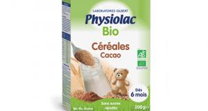 30 Boîtes de Céréales Bio Cacao Physiolac à tester