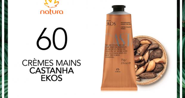 60 Crèmes Mains Ekos Castanha de Natura à tester