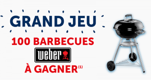 100 barbecues à charbon Weber offerts