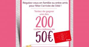200 cartes cadeaux Auchan de 50 euros offertes
