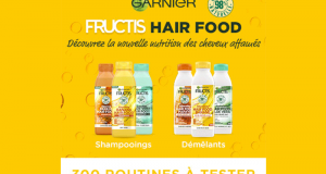 300 routine capillaire Fructis HAIR FOOD à tester