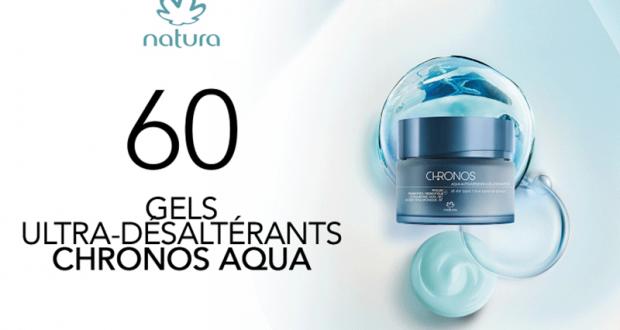 60 Natura Chronos Aqua gel ultra-désaltérant de Natura à tester