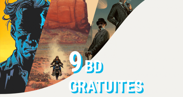 9 BD en lecture gratuite jusqu'au 30 juin