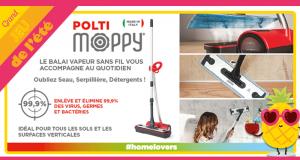 10 balais vapeur sans fil Polti Moppy offerts