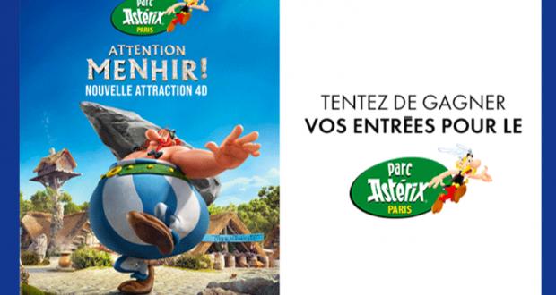 10 lots de 4 entrées pour le parc Astérix offerts