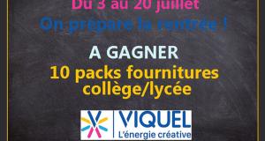 10 lots de fournitures scolaires offerts