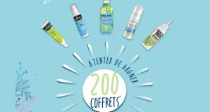 200 coffrets de 5 produits de soins offerts