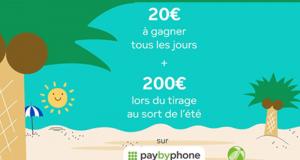 38 cartes de crédit PayByPhone de 20 euros offertes