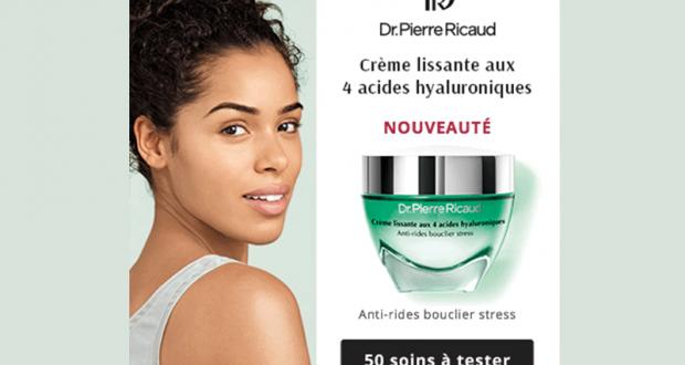 50 Crème lissante aux 4 acides hyaluroniques Dr Pierre Ricaud à tester