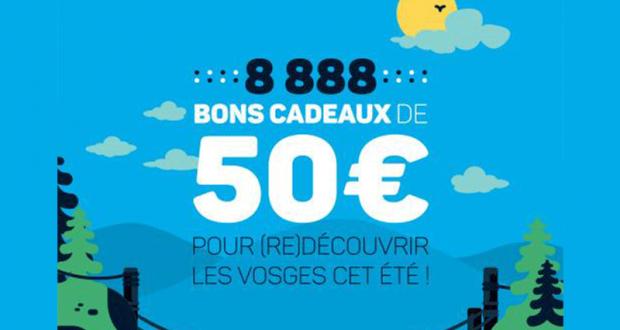 8888 bons cadeaux de 50 euros offerts