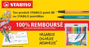 STABILO Le 3ème produit 100% remboursé