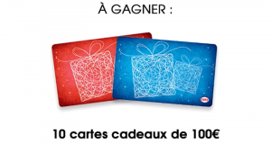 10 cartes cadeaux Cora de 100€ offertes
