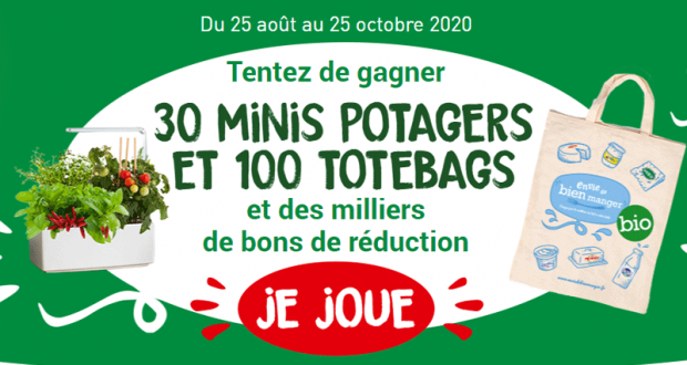 100 Totebags et 30 Minis Potagers offerts