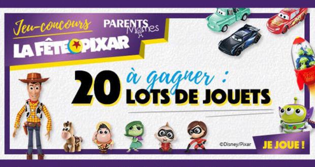 20 lots de jouets Disney Pixar offerts