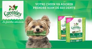 4500 paquets de bâtonnets pour chiens Greenies à tester