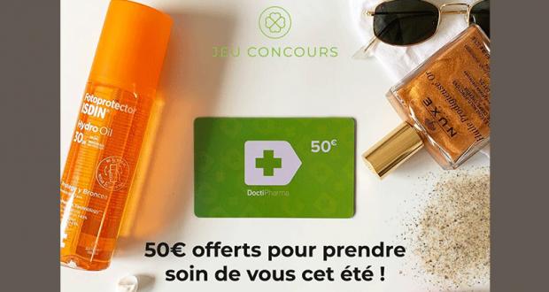 Carte cadeau Doctipharma de 50 euros offerte