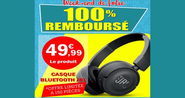 Casque sans-fil JBL - Bluetooth 100% remboursé