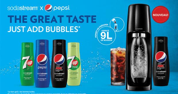 Concentrés Sodastream x Pepsi à tester