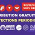 Distribution gratuite de protections périodiques [Étudiantes]