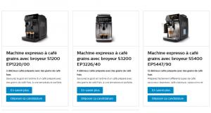 Testez les Machines expresso à café grains avec broyeur de Philips