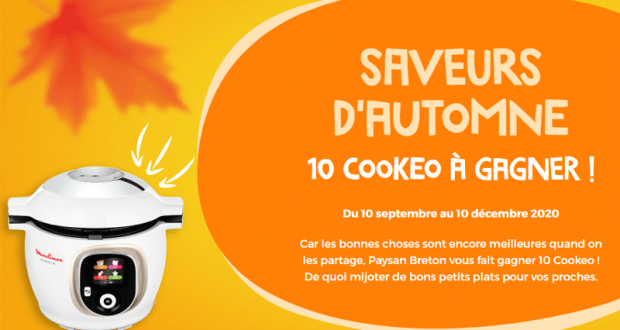 10 appareils culinaires Cookeo Moulinex offerts