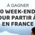 20 week-ends pour partir à 2 en France offerts