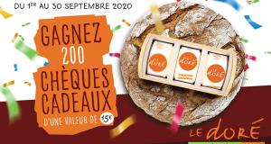 200 chèques cadeaux Le Doré de 15 euros offerts