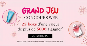 25 box Beauty Success offertes (500 euros chacune)