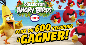 610 peluches Red Angry Birds offertes
