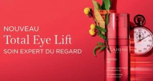 8000 Échantillons Gratuits de Soin zone regard Total Eye Lift Clarins