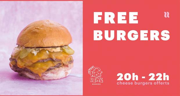 Cheeseburger gratuit - Hotline burgers