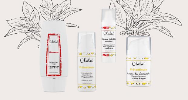 Coffret de 4 produits Olala Cosmétics offert