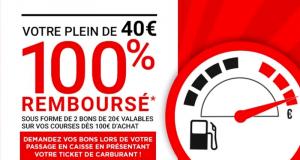 Votre plein de 40€ 100% remboursé - Géant Casino