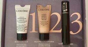 Échantillons Lancôme Teint Idole Ultra Wear + mascara + sérum