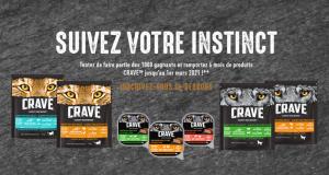 1000 lots de 6 mois de nourriture CRAVE offerts