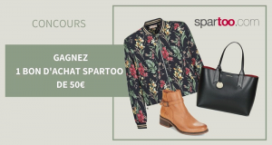 12 bons d'achats Spartoo de 50 euros offerts