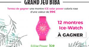 12 montres Ice Solar Power offertes