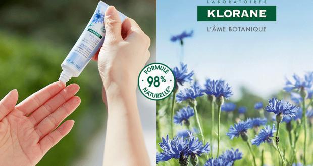1500 soins Crème d'eau au Bleuet de Klorane à tester