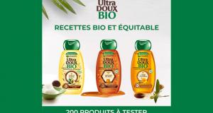 200 Shampooings Ultra Doux Bio de Garnier à tester