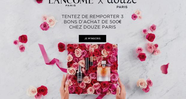 3 bons d'achats Douze Paris de 500 euros offerts