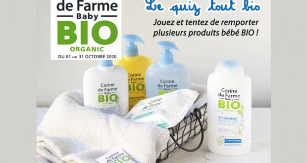 5 assortiments de produit de soins bébé bio offerts