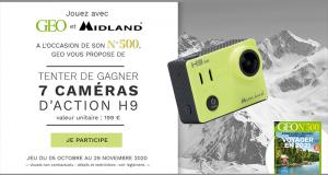 7 caméras vidéo Midland offertes