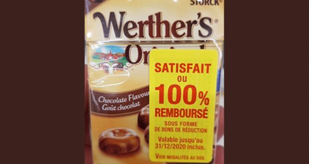 Bonbons Goût Chocolat Sans Sucres Werther's Original 100% Remboursé