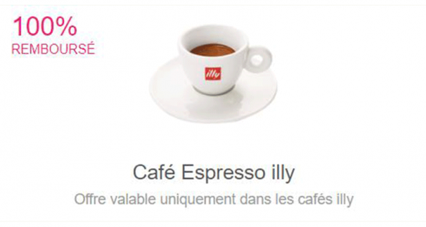 Café Espresso Illy 100% Remboursés